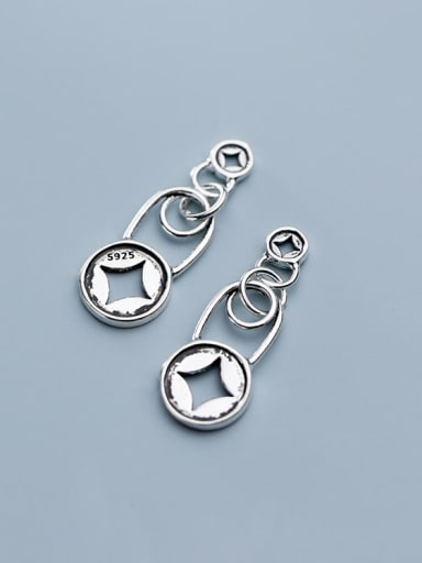 925 Sterling Silver With   Personality lock pendant Diy Accessories