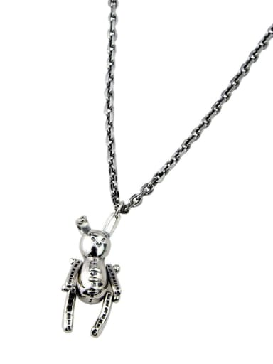 Vintage Sterling Silver With Platinum Plated Simplistic rabbit Necklaces