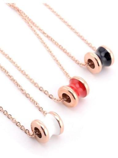 Titanium Enamel Irregular Minimalist Necklace