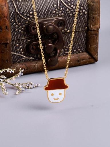 Titanium Enamel Irregular Cute pendant Necklace