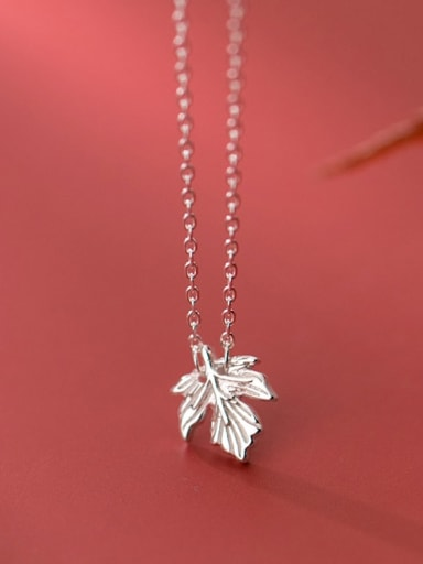 925 Sterling Silver Leaf Minimalist Necklace
