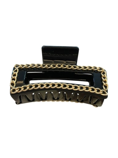 Cellulose Acetate Alloy  Chain Vintage Geometric Jaw Hair Claw