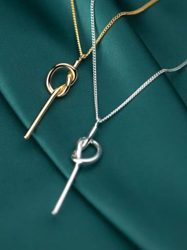 925 Sterling Silver With  Minimalist Smooth Key Necklaces