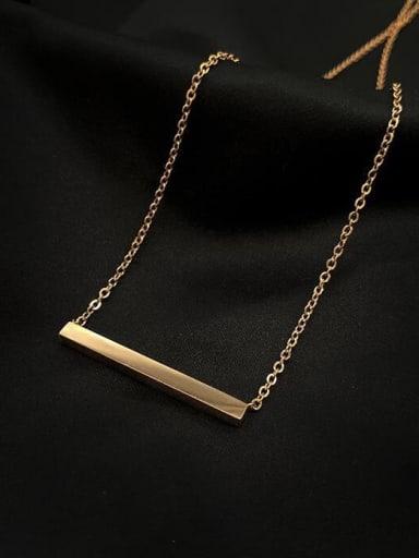 Titanium smooth Rectangle Minimalist pendant Necklace