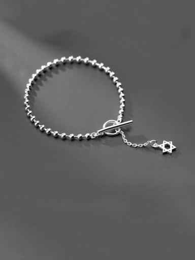 925 sterling silver Round beaded  minimalist beaded bracelet