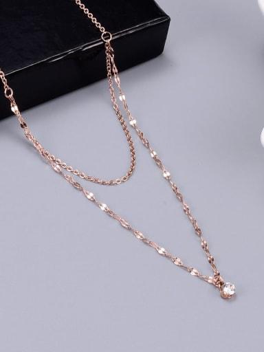 Titanium Minimalist Multi Strand Necklace