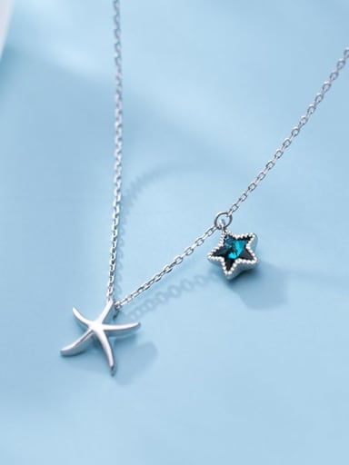 925 Sterling Silver  Minimalist   Star  Pendant Necklace
