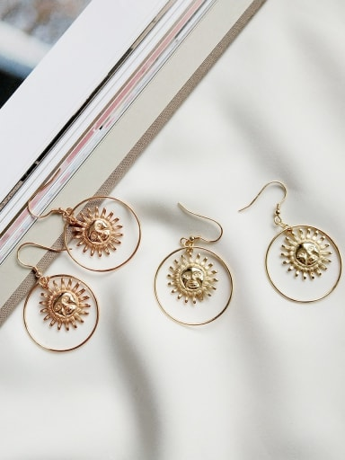 925 Sterling Silver  Minimalist Sun Goddess  (Single)  Single Earring