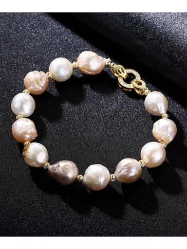 Mixed color short 9d04 925 Sterling Silver Freshwater Pearl Bracelet