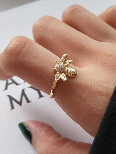 925 Sterling Silver Trend Ctue Bee  Band Ring