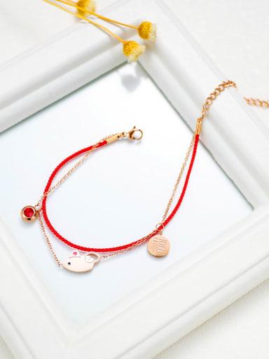 Titanium mouse Minimalist Strand Bracelet