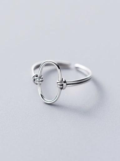 925 Sterling Silver Geometric Minimalist Band Ring