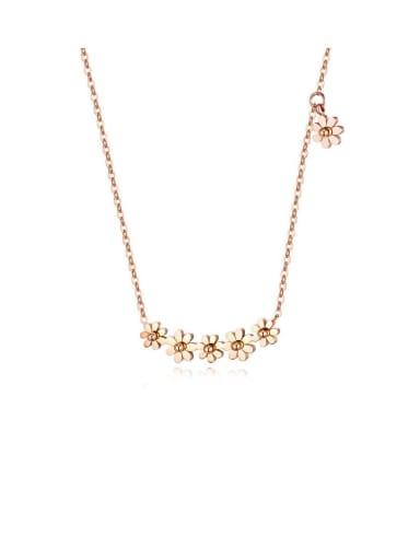 Titanium Flower Minimalist Necklaces
