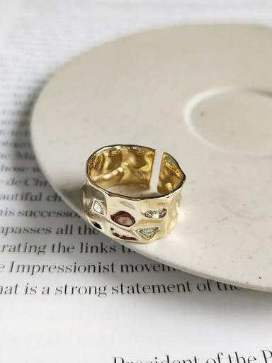 925 Sterling Silver Irregular/geometric free size Ring