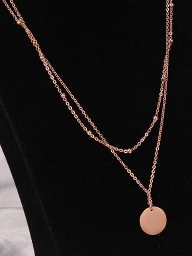 Titanium Smooth  Round Minimalist Multi Strand Necklace