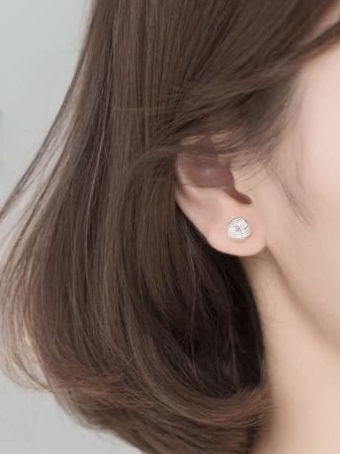 S925 silver pair Silver 6mm 925 Sterling Silver Ball Vintage Stud Earring