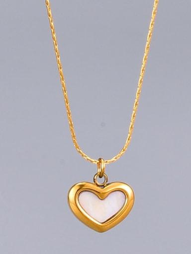 Titanium Shell Heart Minimalist  pendant Necklace