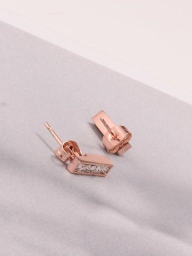 Titanium Rhinestone Geometric Minimalist Stud Earring