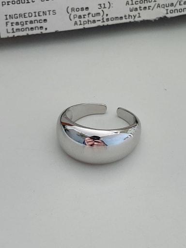 Circular ring 925 Sterling Silver Irregular Vintage Band Ring