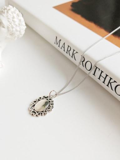 925 Sterling Silver Antique fancy Pendant Necklace