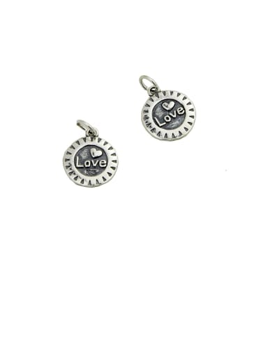 Vintage Sterling Silver With Minimalist Retro Letter Pendant Diy Accessories