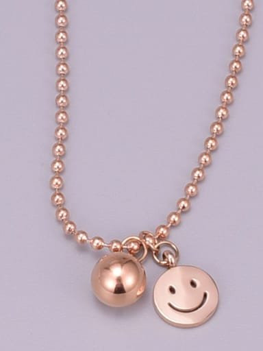 Titanium Round Statement Beaded Necklace