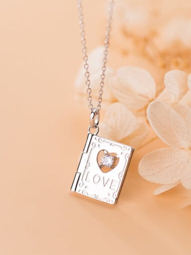 925 Sterling Silver  Minimalist Clover  Square pendant Necklace
