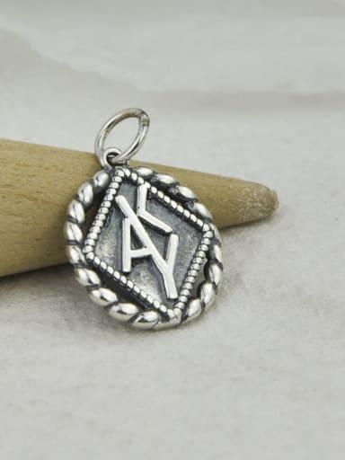 No 2 DJ121 Vintage Sterling Silver With Vintage Geometry Pendant Diy Accessories