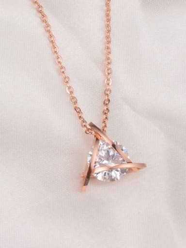 Titanium Triangle Diamond   Necklace