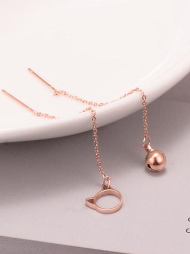 Titanium Ball Minimalist Threader Earring