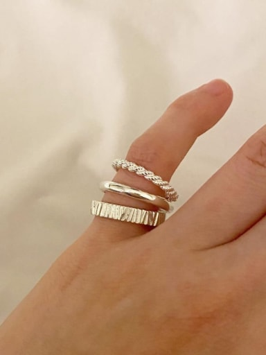 925 Sterling Silver Smooth Free Size Ring