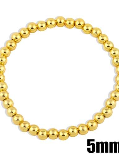 Gold 5mm Brass Ball Minimalist Bead Chain