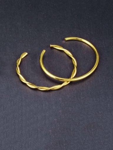 Titanium Hollow Round Minimalist Hoop Earring