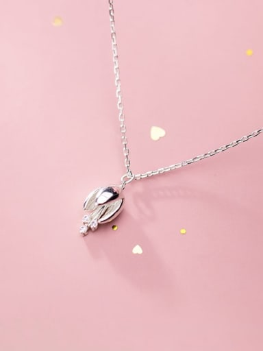 925 Sterling Silver Campanula flowers Necklace