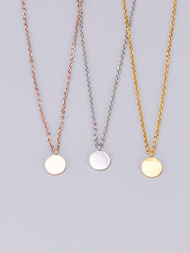 Titanium Smooth Round Necklace