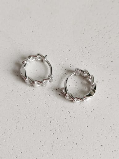 925 Sterling Silver  N-Chain Flower Vintage Stud Earring