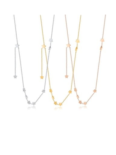 Stainless Steel Star Minimalist Long Strand Necklace
