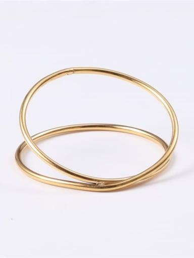 Gold 7 A58 Titanium Round Minimalist Midi Ring