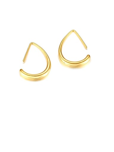 Stainless Steel Geometric Minimalist Hook Earring