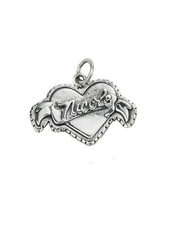 Vintage Sterling Silver With Vintage Heart Pendant Diy Accessories
