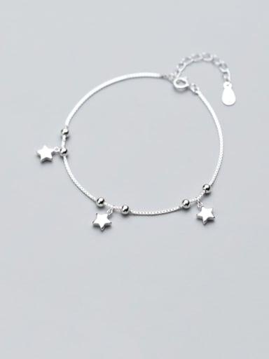 925 Sterling Silver  Minimalist Star Link Bracelet
