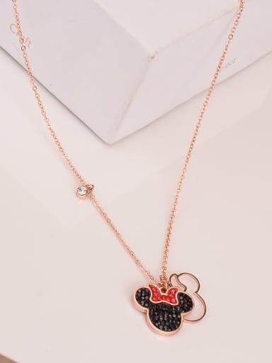 Titanium Cute  Mickey Mouse Choker Necklace