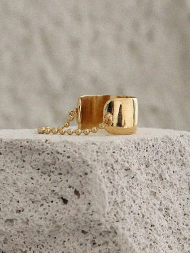 Stainless steel Minimalist Face width classic bead chain ring