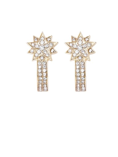 Alloy With Gold Plated Trendy Flower Drop Earrings