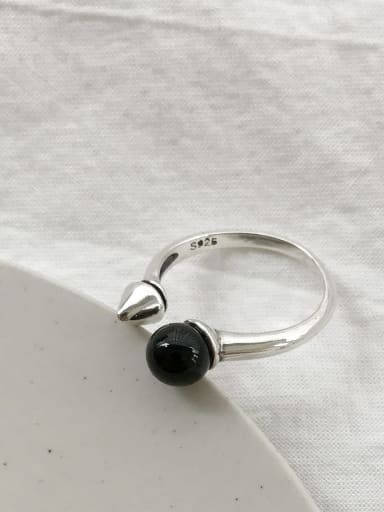 925 Sterling Silver Round Vintage Free Size Ring
