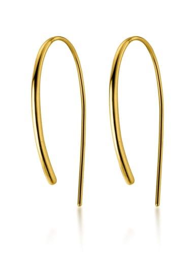 925 Sterling Silver Irregular Minimalist Hook Earring