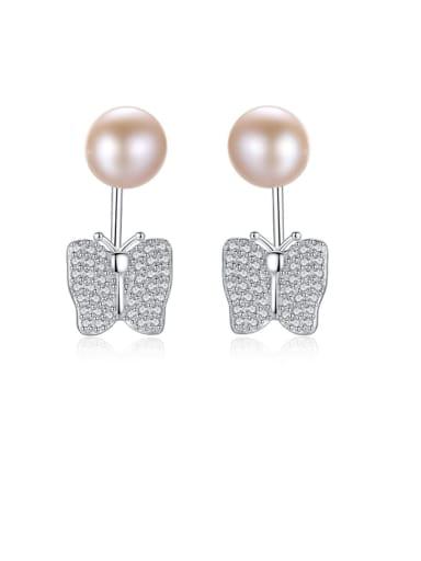 925 Sterling Silver Freshwater Pearl Irregular Earring