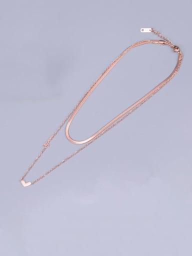 Titanium Heart Minimalist Multi Strand Necklace