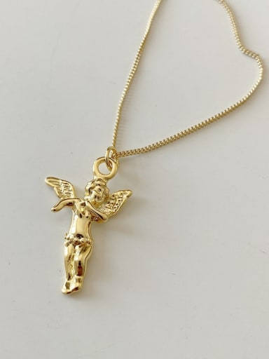 925 Sterling Silver Religious Vintage Mini Angel Necklace