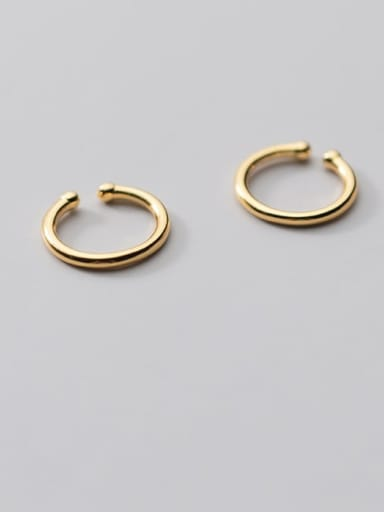 925 Sterling Silver Round Minimalist Hoop Earring